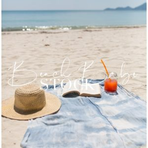 A Day at the Beach, book and cocktail