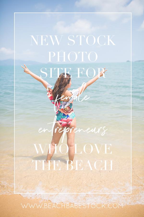 New stock photo site for female entrepreneurs who love the beach