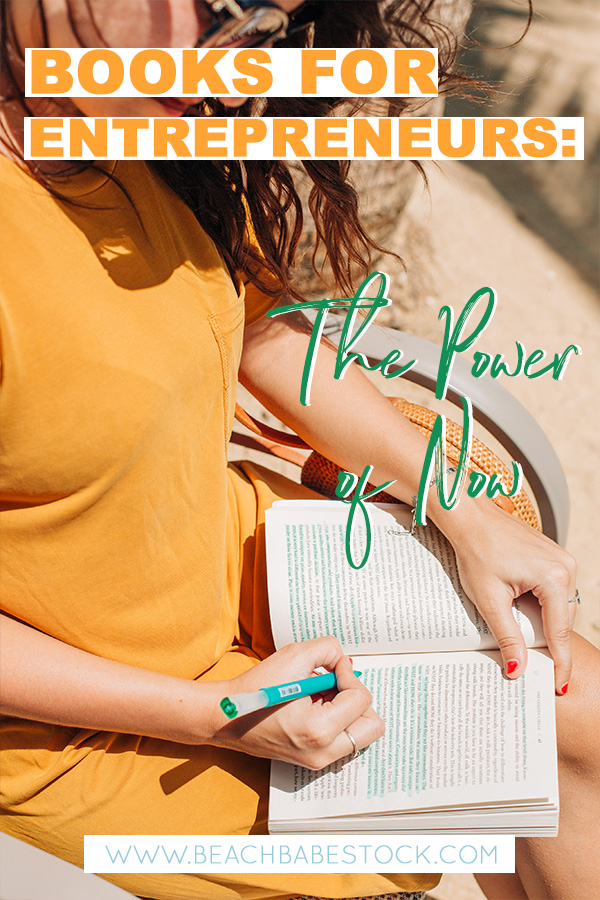 Books for entrepreneurs review series: The Power of Now - Eckhart Tolle. Find some great books to read in lockdown, perfect for mindset shifts and business strategies to entrepreneurs and business startups.